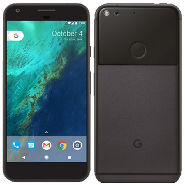 Google Pixel XL, Unlocked, Black, 128 GB, 5.5 in Screen