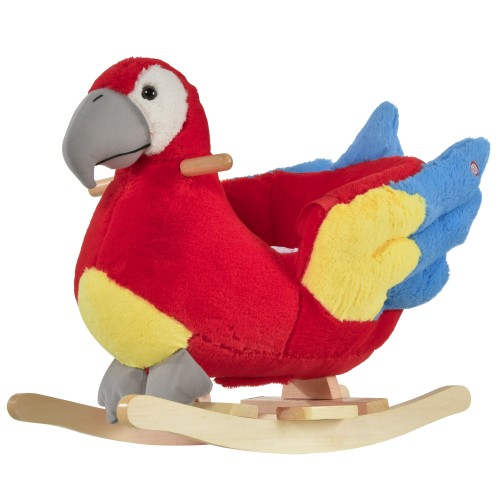 Indoor Childrens Swaying Parrot Animal Chair Play Toy for Kids 18-36 Months