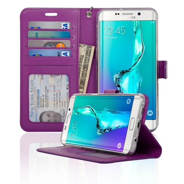 Navor Samsung Galaxy S6 Edge Plus Folio Wallet Case