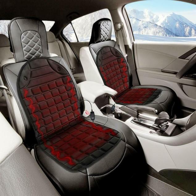 2 - Pack Zone Tech 12V 2x Heated Car Seat Cushion 1