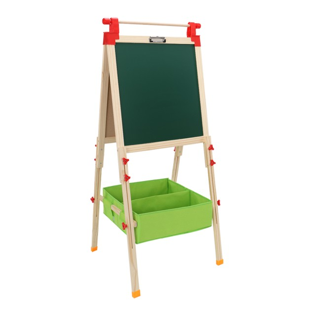 Top Shaft With Non-Woven Storage For Children's Liftable Easel