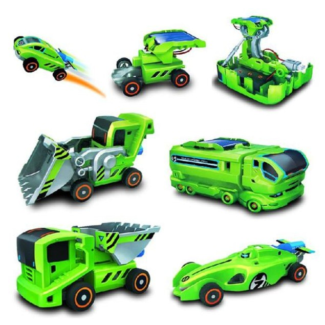 7 In 1 Rechargeable Solar Power Car Kit Educational Toy