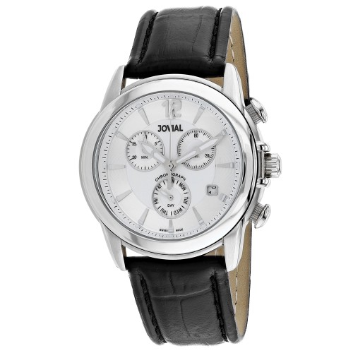 Jovial Men's Classic Silver Dial Watch - 04505-GSLC-01