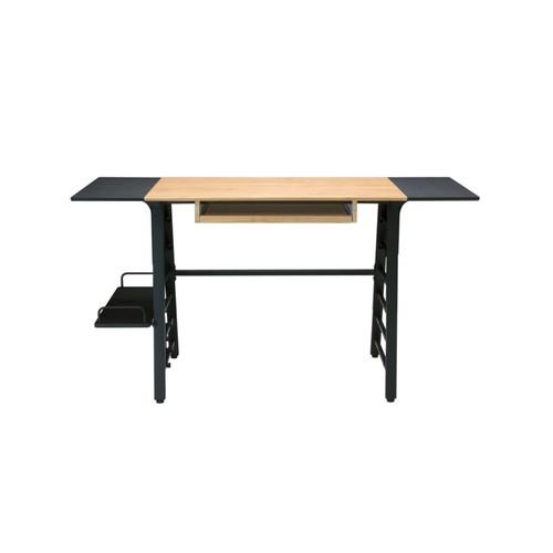 Offex Ashwood Convertible Desk - Ashwood/Graphite