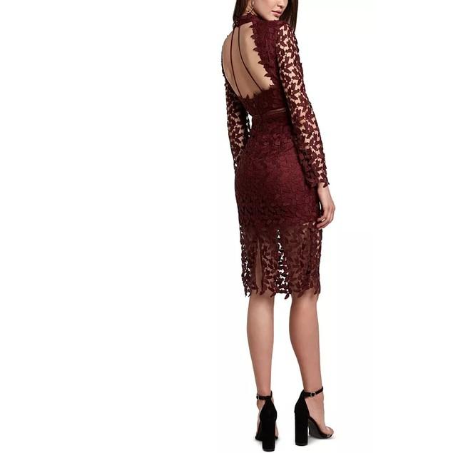 Bardot Women's Alberta Lace Dress Red Size Large