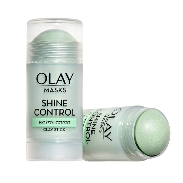 Olay Masks Shine Control Clay Face Mask Stick w/ Tea Tree Extract, 1.7