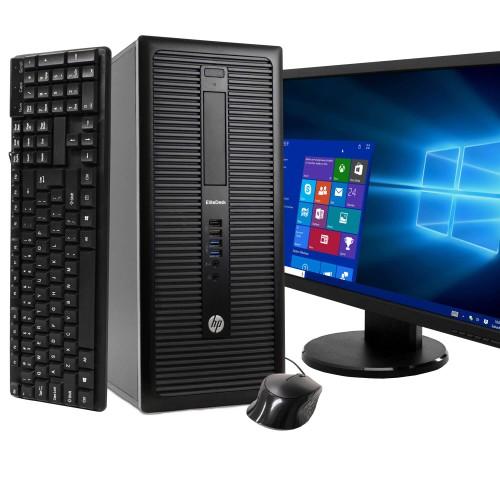 "HP 800 G1 Tower Intel i5 8GB 500GB HDD Windows 10 Home 22"" Monitor"