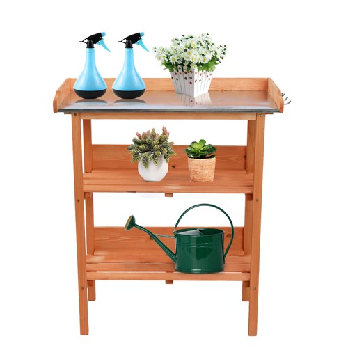 Wooden Garden Workbench 3 Shelves