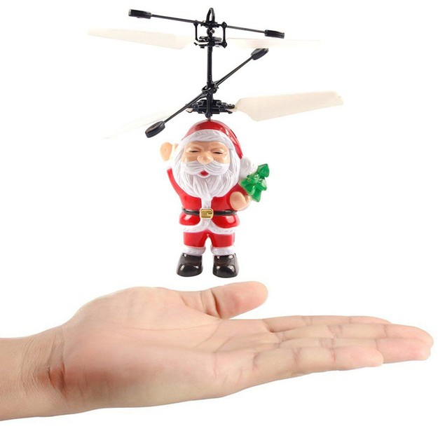 Electric Infrared Sensor Flying Ball Christmas Helicopter LED Light Toy