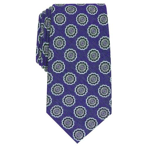 Tasso Elba Men's Classic Medallion Silk Tie Purple Size Regular