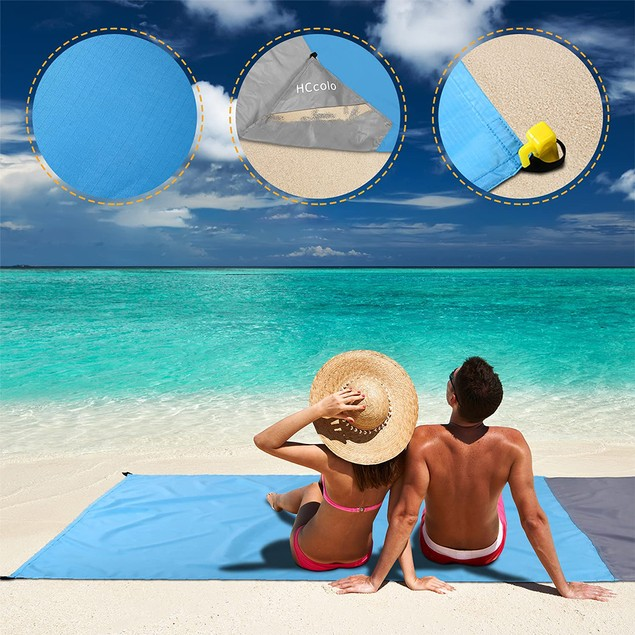 82*78 inch Picnic Mat Blanket Pad Outdoor Folding Camping Beach Blanket