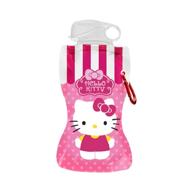 Hello Kitty Collapsible Water Bottle Flexible Foldable BPA Free