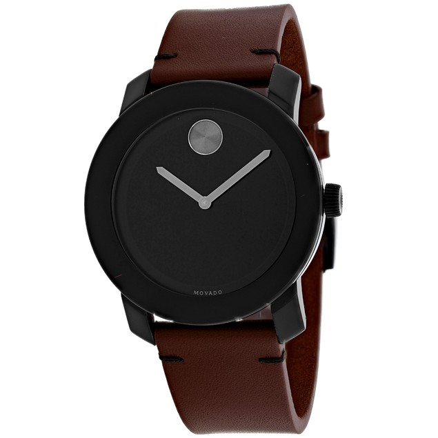 Movado Men's Bold Black Dial Watch - 3600602