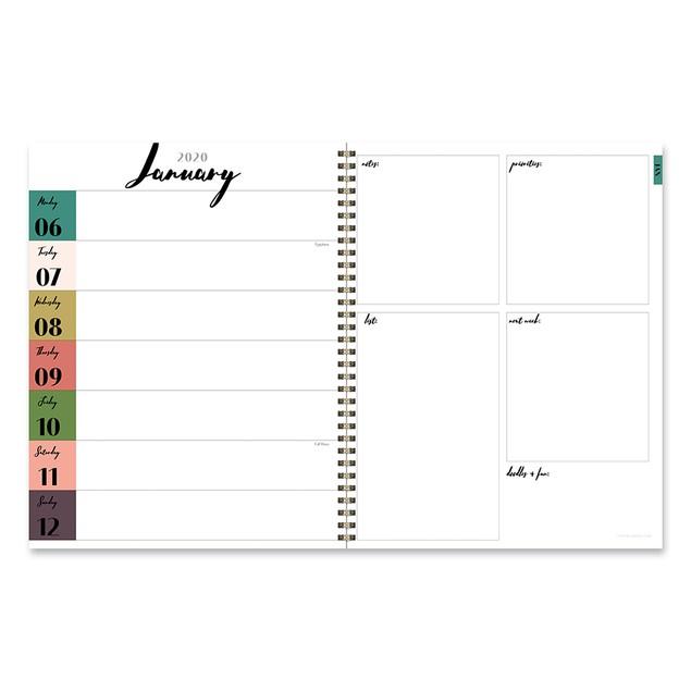 2020 Large Weekly Monthly Planners-Sleek Kraft Interior