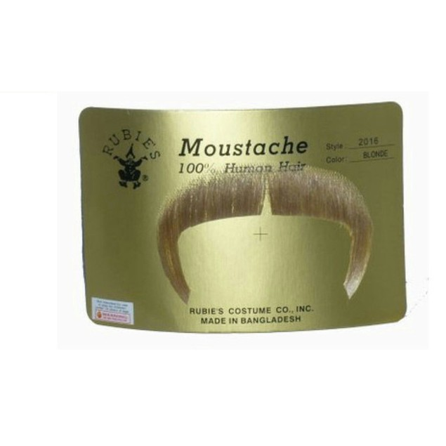 Blonde Zapata Moustache 100% Human Hair Mexican Cowboy Emiliano Accesories