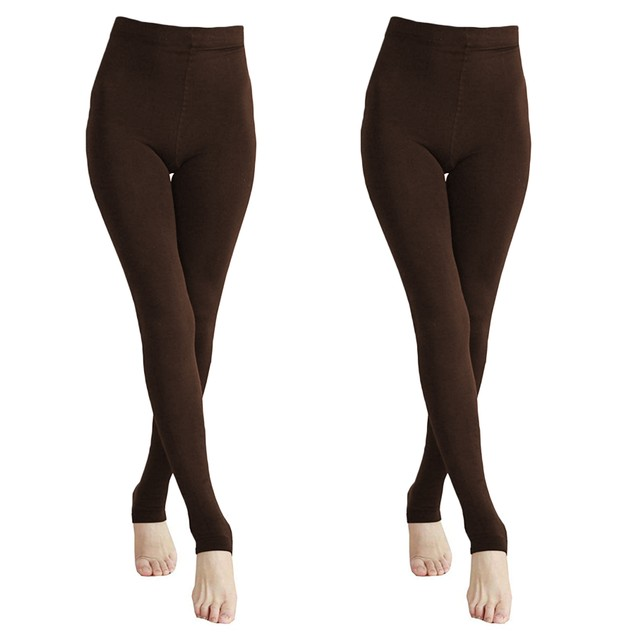 2-Pairs Women's Winter Fleece Lined Thermal Stretchy Pantyhose Tights