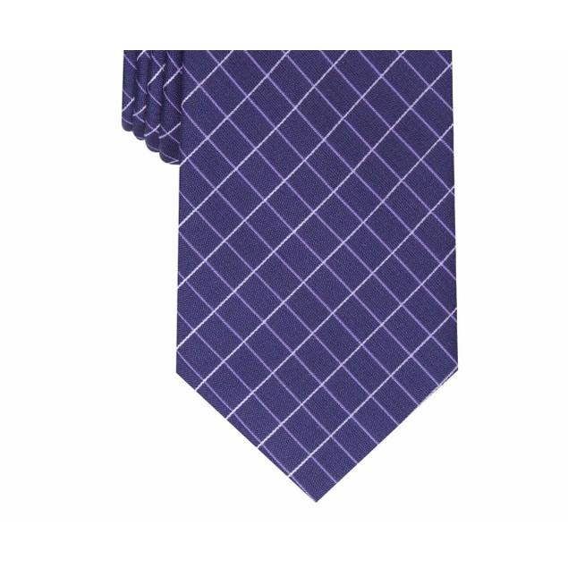 Alfani Men's Slim Grid Tie Navy Size Regular