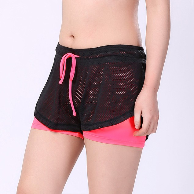 Women's Double-layer Yoga Fitness Shorts