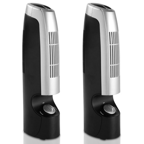 Costway 2 PCS Mini Ionic Whisper Home Air Purifier & Ionizer