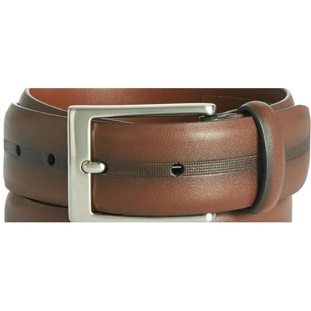 Perry Ellis Men's Colorblocked Belt Brown Size 40