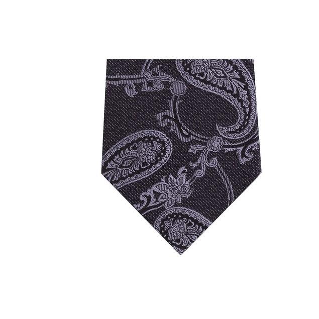 Michael Kors Men's Pristine Classic Paisley Tie Black Size Regular