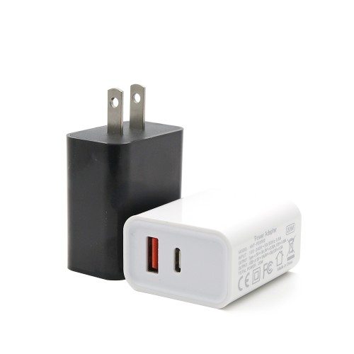 Fast Charger with PD 20W and QC3.0 Dual Port Wall Charger Plug