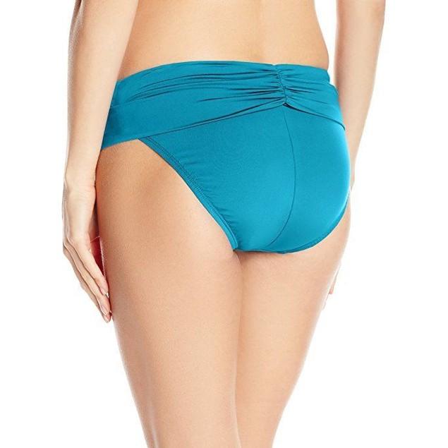 Jantzen Women's Solid Shirred Fold-Over Waist Full Coverage bottom SZ