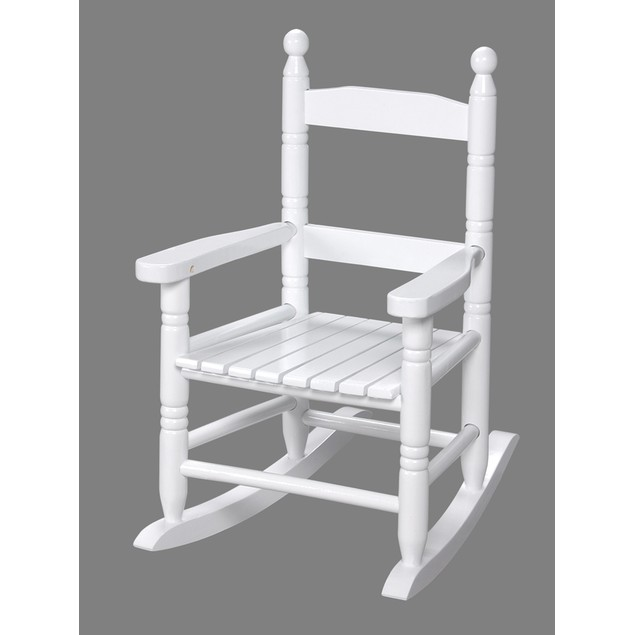 Gift Mark Childs Double Slat Back Rocking Chair- White