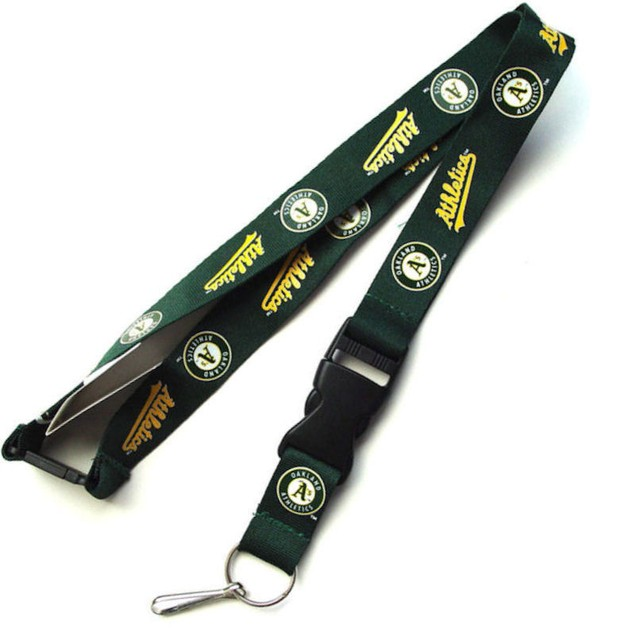 Oakland A s Athletics Clip Lanyard Keychain Id Ticket - Green