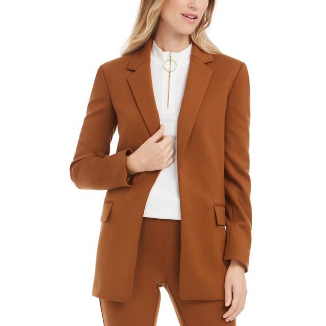 Calvin Klein Women's Open Front Blazer Medium Brown Size 12