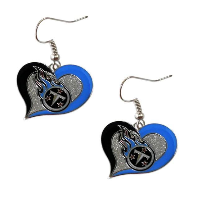 Tennessee Titans Swirl Heart Earring
