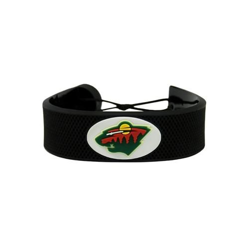 Minnesota Wild Classic NHL Gamewear Leather Hockey Bracelet