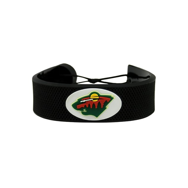 Minnesota Wild Classic NHL Gamewear Leather Hockey Bracelet