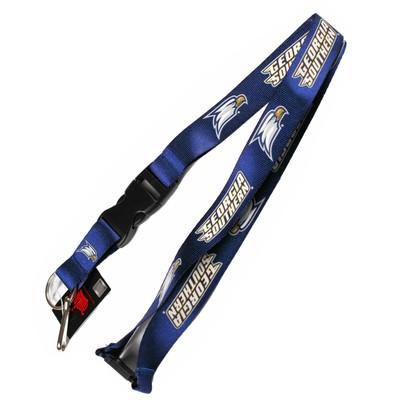 Georgia Southern Eagles Clip Lanyard Keychain Id Ticket - Blue