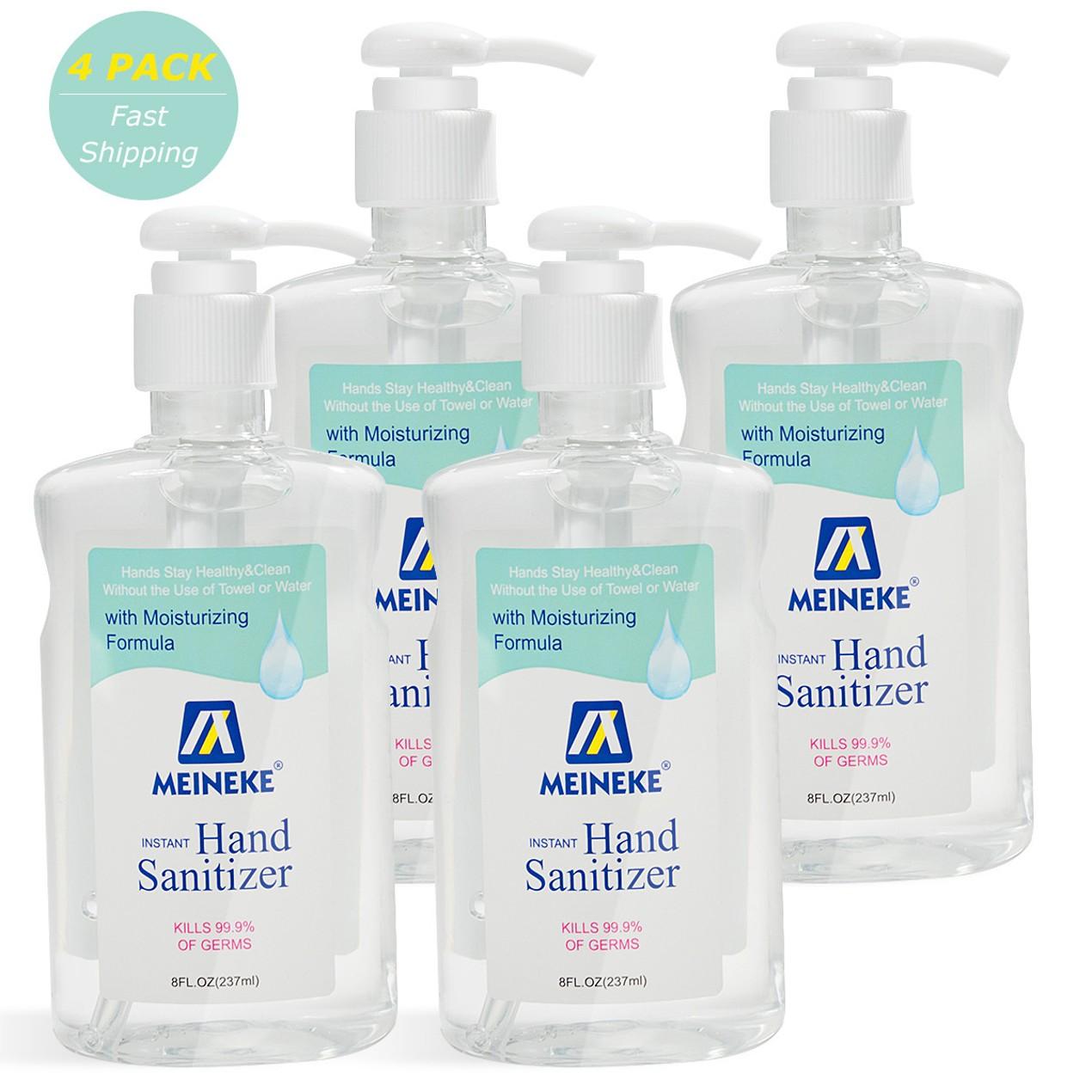 4-Pack Meineke 8 Fl. Oz. Advanced Hand Sanitizer Gel