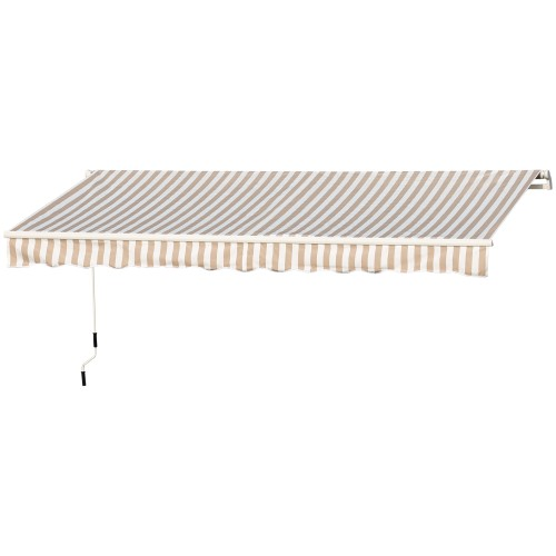 13' x 8' Manual Retractable Sun Shade Shelter Outdoor Patio Awning Canopy