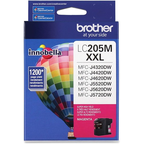 Brothers Brother Printer LC205M Super High Yield Ink Cartridge, Magenta
