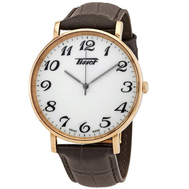 Tissot Men's Everytime Large White Dial Watch - T1096103601201