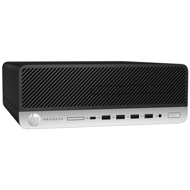 """HP 600G3 Desktop Intel i5 8GB 500GB SSD Windows 10 Professional 24"""" Monitor"""