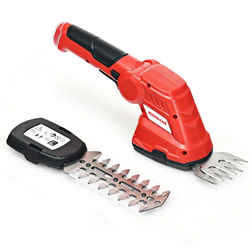 IRONMAX 3.6V 2-in-1 Cordless Grass Shear Cutter Shrub Trimmer w/Rechargeabl