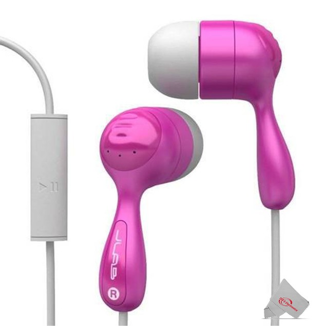 JLAB Premium Sound Jbuds Hifi Noise Reduction Earbuds with Universal Mic and Track Control