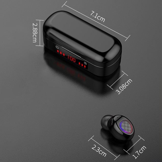 Bluetooth Wireless Earbuds Headphone With key function Mini Charging Case