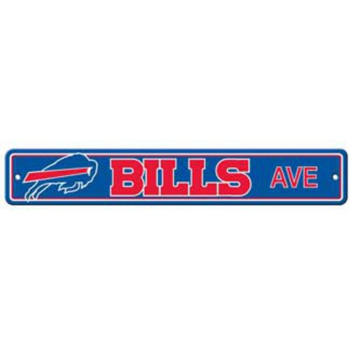 "Buffalo Bills Ave Street Sign 4""x24"" NFL Football Team Logo Avenue Man Cave"