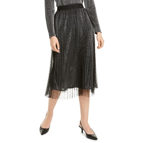 Alfani Women's Swiss-Dot Metallic Skirt  Gnmerl Metallic Size Extra Large