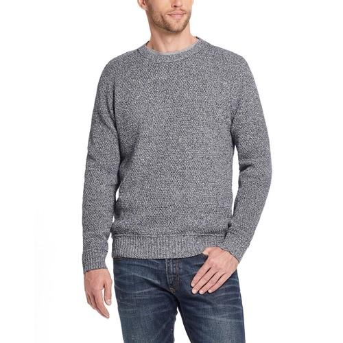 Weatherproof Vintage Men's Solid Mesh Stitch Sweater Gray Size Medium