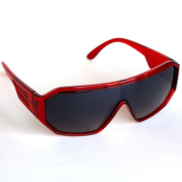 Macho Wrestler Sunglasses Black Lens with Translucent Red Frame