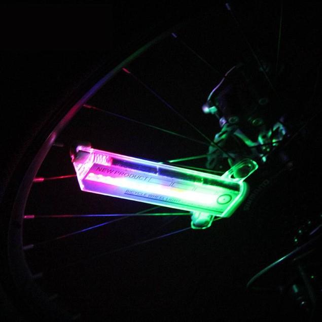 32 LED RGB Waterproof Bicycle Changing Wheel Flash Light for Night Riding