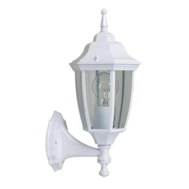 Hampton Bay 14.5 Inches White Dusk to Dawn Decorative Outdoor Wall Lantern