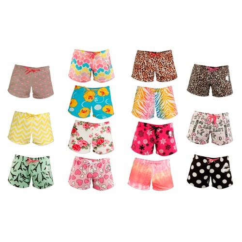 4-Pack: Women's Super Soft Printed Plush Shorts