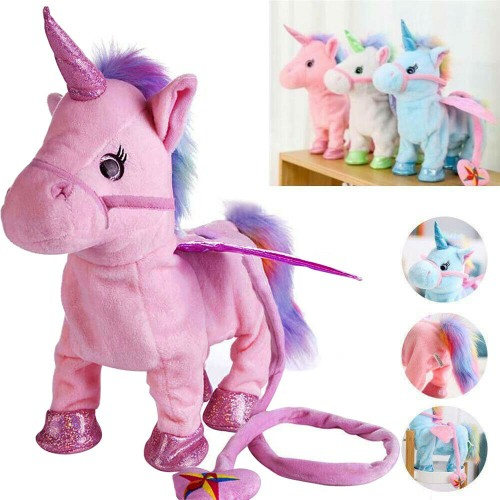 Cutest Walking & Singing Unicorn Plush Toys Best Birthday Gift for Kids